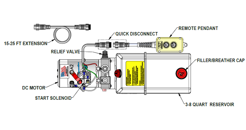 installation instructions 12 vdc double acting \u2013 kti hydraulics, inc 12 Volt Hydraulic Solenoid Wiring