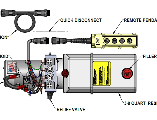 installation instructions: 12 vdc dual double-acting